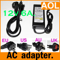 Wholesale AC V To DC V A Adapter W Power Supply US EU AU UK For LED Strip light Router HUB