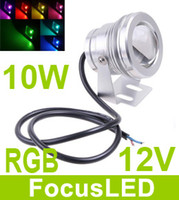 Wholesale 7 Color LM W Led Underwater Lights Saft V Led Aquarium Waterproof Lamp Angle High Power