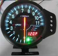 RACING CAR apex gauges - 5 quot APEX AUTO GAUGE AUTO METER TACHOMETER GUAGE EL IN METER BLACK FACE