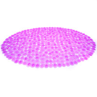 Pink Grait PVC Bathroom Mat Non- slip Pad with Oval Shape(47*...