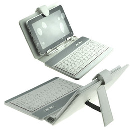 7 inch USB Keyboard + Protective Leather Case + Stylus Pen For 7 inch Tablet PC MID White Color