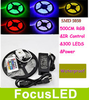Wholesale RGB M Leds SMD Led Strip Waterproof IP65 Keys IR Remote Controller V A Power Supply