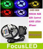 Wholesale RGB M Leds SMD Led Strip Waterproof IP65 Keys IR Remote Controller V A Power Supply