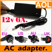 Wholesale 72W V A AC Power Supply Adapter Cord Charger for LCD Notebooks LED strip plug EU US AU UK