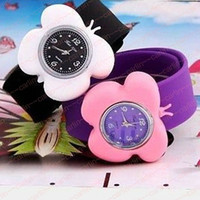 Wholesale DIY Kids Children Detachable Jelly Silicone Tape Watch Fashion Sport Slap Quartz Watch