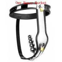 Female Chastiy Belt Stainless Steel Wholesale- Luxury Female Stainless Steel Fully Adjustable & Lockable Chastity Belt with Anal Plug