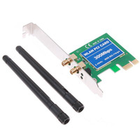 Wholesale Wireless LAN Card Network Adapter Wifi Adpter N PCI E M Wireless Wifi Receiver Retail Box