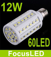 Wholesale 60 Leds SMD E27 Led Corn Bulbs Light W LM Warm White K Led Spot Lamp Angle V
