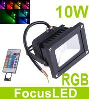 85-265V 900 lm RGB 16 colors changing AC 110-240V 10W 900LM RGB Flash Landscape Lighting LED Garden Light Floodlight IP65 LED street Lamp