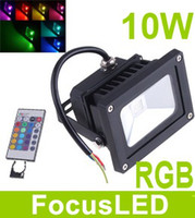 Wholesale 85 V RGB Led Floodlight W Outdoor Hight Power Landscape Flood light Color Changing IR Control