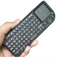 Wholesale K100RF Rii GHz Mini PC Wireless QWERTY Keyboard Mouse Touchpad Remote Controller laser point