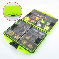Wholesale 1set sea fishing rock fishing accessories parts swivel Fish hooks fish float Combination with box fr