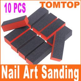 Wholesale 10pcs set Nail Art Buffer Sanding Block Files Manicure tool H4651
