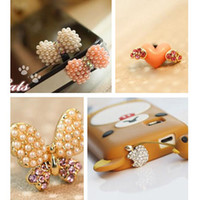 Wholesale Cell phone dustproof plug mixed styles iphone4S ipad MP3 MP4 HTC ear phone cap cellphone accessories