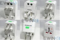 Wholesale 200x New UK US AU Universal ALL In One Power Plug Travel Adapter Socket Converter
