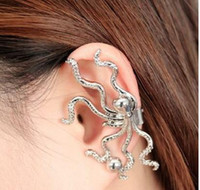 Wholesale European pop punk eight claw octopus ear clip ear buckle ear cuff jewelry earrings LY1