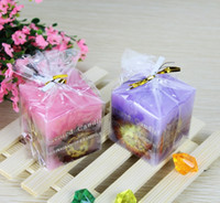Wholesale Dried flowers Aromatherapy Candle without smoke candles Plant specimens many colors are available