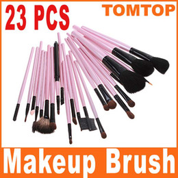 Wholesale 23pcs Professional Cosmetic Makeup make up Brush Set Eyeshadow brushes Pink Pouch Bag H4892