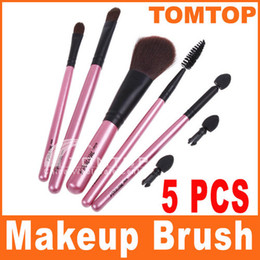 Wholesale 5pcs Cosmetic Makeup Brush Set Eyelash Lip Brush Eyeshadow Sponge make up brushes kit H8091