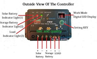 Wholesale drop ship Solar Charge Controller Regulator V V auto W Solar panel W PV Solar Controller