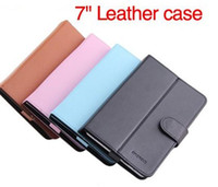 Wholesale 2pcs Universal smart magnetic leather case stand with Button hook loop inch leather case for tablet PC