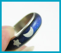 Wholesale Mood ring temperature ring change color ring fashion jewelry with color chart