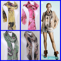 Wholesale 12pcs Lady s Scarf Women s Begonia Flowers Scarves Bandelet Muffler Shawls Neckerchief cm Longth