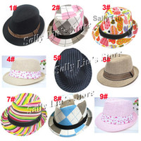 Boy Summer fedoras Children Hat & Cap Mixed Designs Kids Trilby Fedora Hat Baby Top Hat Jazz Cap Fit 2-5 years