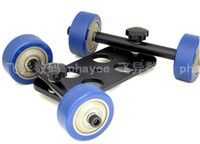 Wholesale TableTop DSLR Camera Dolly Kit Car Tripod Ball Skater wheel lbs Camera Truck Stabilizer Trolley