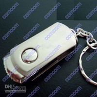 Wholesale EMS Real GB and GB USB Flash Drive Memory Stick Swivel metal Key Chain pendrives Pen Drive