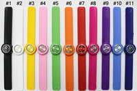 Wholesale 100pcs Snap Slap Watch Silicone Candy Jelly Sports Fashion Watches for Children and Kids with ss com