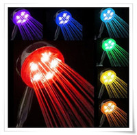 Wholesale Romantic Colors Changing LED Shower Head Home Bathroom Water Glow Light A18