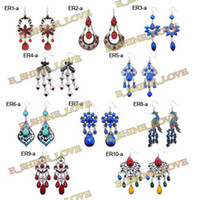 Wholesale 10PairsXVintage Tibetan Silver Bronze amp Resin Fashion Earrings ERmix1 ERmix2