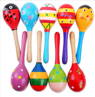 Wholesale Baby Rattles Large Sand Hammer Cartoon Wood Sand Hammer Wooden Rattles Educational children toys