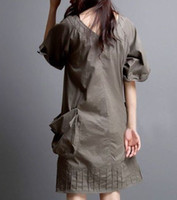 Casual Dresses xxxxl - Fashion Women Summer New Dress Front and Back Sexy V neck Black Khaki Color was Thin Large Pockets Plus Size Casual Dress L XXXXL