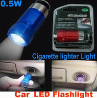 Wholesale Car Cigarette Lighter Rechargeable LED Flashlight W lumen V Car Cigarette lighter LED Light