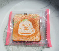 order free cell phones - RS010 Cute soft squishy rilakkuma bear toast cell phone charm mixed order