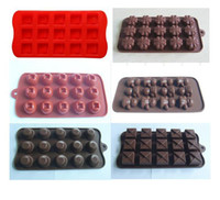 Wholesale 6pcs different shapes Silicone Chocolate Molds Cake Moulds Jelly Ice Cookie Mould