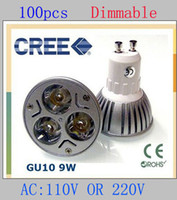 Wholesale 100pcs High power GU10 x3W W Dimmable LED Light Lamp Bulb Downlight V By DHL