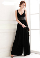 Cotton Sleeveless Long 2013 New Arrival Women Fashion Loose V Neck Jumpsuits Sexy Sleeveless Jumpsuit And Romper