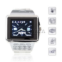 Wholesale X8 Watch Phone Dual SIM Card WiFi Java Bluetooth Inch Touch Screen Cellphone Silver