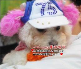 Wholesale Dog s Diamond Sports Caps Pets hat Dog sports hats Fancy hat pet sunhats