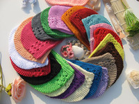Spring / Autumn kufi hats - Crochet Kufi Hat Girl baby kufi hat beanie Colors and Sizes to chose bow clip BabyToddler