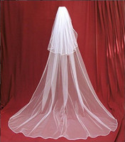 In Stock 2T White Wedding Veil Bridal Veil Long Trailing