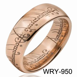 10 pcs lot LOTR TUNGSTEN RINGS Tungsten Ring Rose Gold Lord of Tungsten Rings