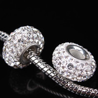 Wholesale New silver Jewelry Core Crystal Beads Czech Rhinestone Beads Fit Charm Bracelet