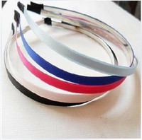 Wholesale Assorted color color Metal Headbands mm with ribbon
