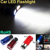 Wholesale super bright Car LED Flashlight W LM V Portable Car Cigarette lighter Rechargeable LED Light
