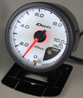 Wholesale NEW mm DEFI Style of Meter CR Stepper Motor OIL PRESSURE GAUGE WITH SENSOR Gauge Auto Meter