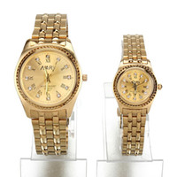 Wholesale 2012 Plum flower series fashionable lovers watch plated gold steel belt watch NR039